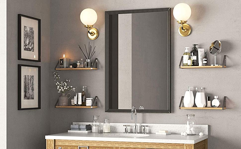 decorations para el hogar galvanized decor wall mount closet organizer shelves bathroom shelf over