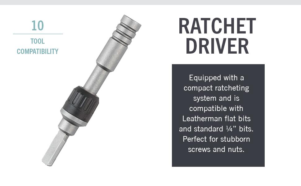 Leatherman, Leatherman Ratchet Driver, Ratchet Driver, Various Compatibility, Compact