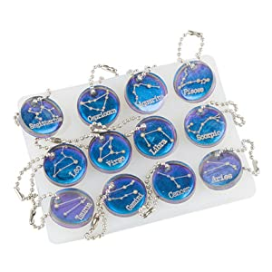 12 Constellations Resin Molds, Discs Pendant Epoxy Resin Silicone Mold Ice Tray