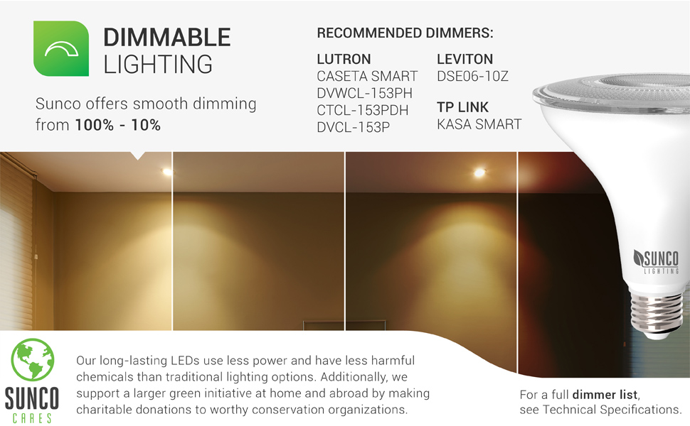 PAR38 LED Bulb 13W=100W, 1050 LM, Dimmable Flood Light, Indoor/Outdoor, Accent, Highlight - UL