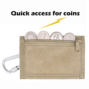 rough enough kids boys wallet with YKK zipper coin pocket for quick access to coins metro card cash