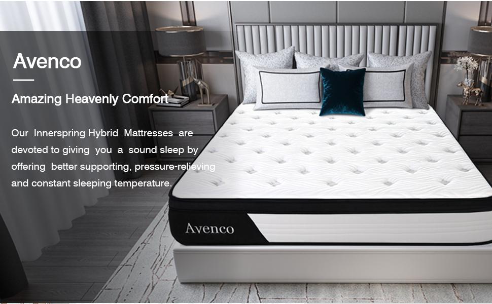 hybrid mattress, queen mattress, queen memory foam mattress, queen size mattress in a box