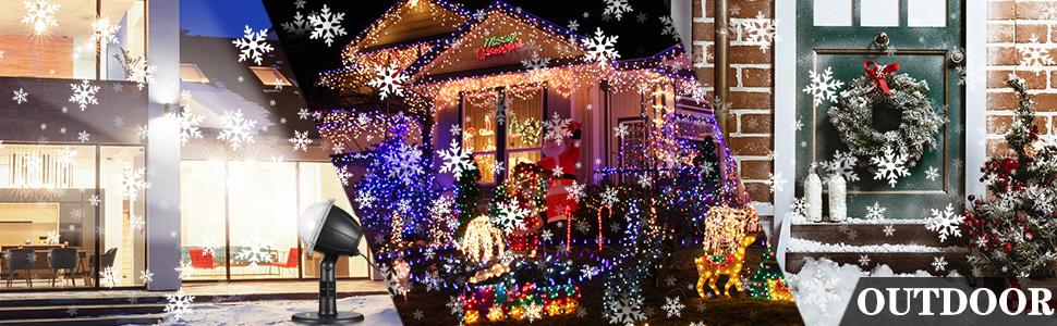 Luces de Proyector de Navidad, Luz de Proyección 2 in 1 Ondas de ...