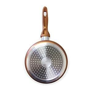 homiu copper pan frying cooking convection non stick
