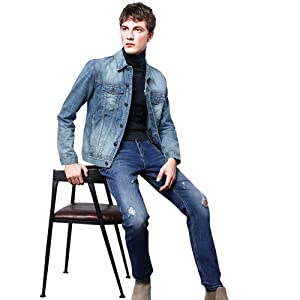 denim jacket men patches jeans jacket men slim fit vintage denim jacket men classic denim jacket men