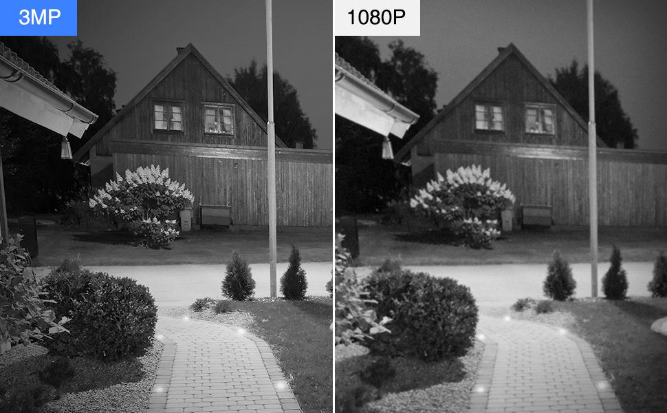 3mp security camera system wifi