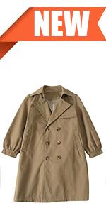 girls long sleeve trench coat