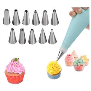 Cake Decorating Kits Cake Turntable & 12 Numbered Cake Decorating Tips & 1 Set Brush Spatul