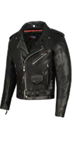 Leather Jacket Men Motorcycle Biker