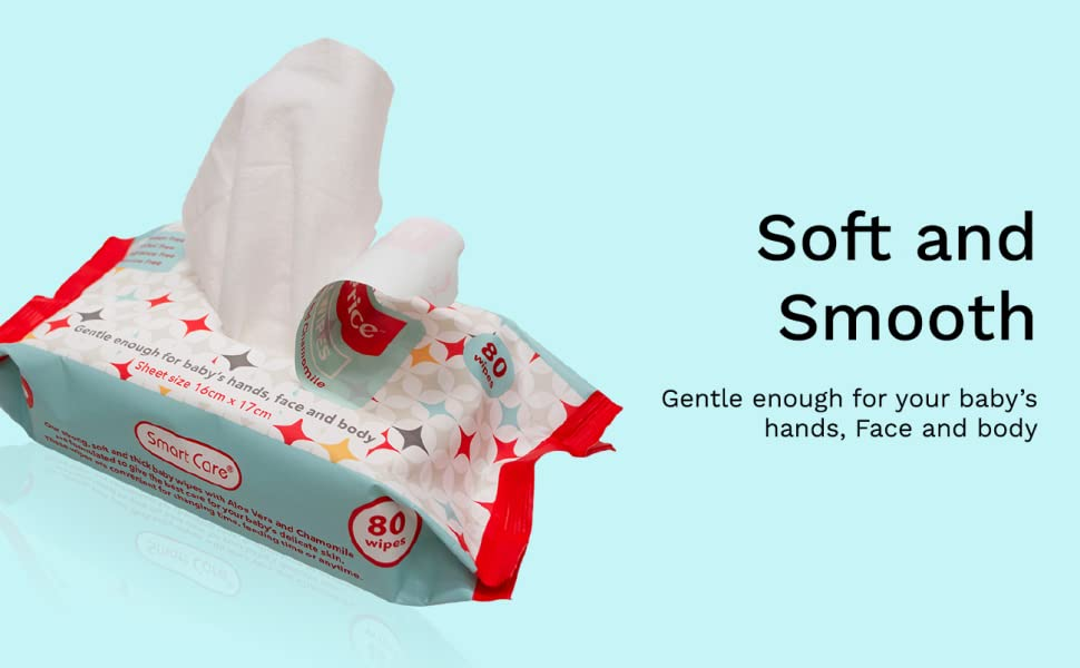 Smart care wipe wipes baby toddler soft clean strong ultimate most value best aloe vera sensitive