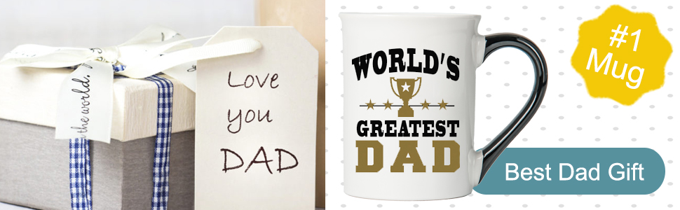 worlds greatest mugs best dad ever dad presents #1 dad dad stuff