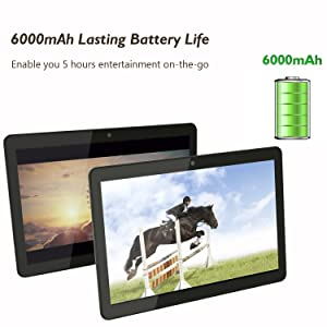 android tablet with 6000 mAh lasting battery life