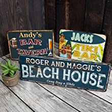 Metal signs, easy hanging, rustic signs, personalized signs, custom gifts