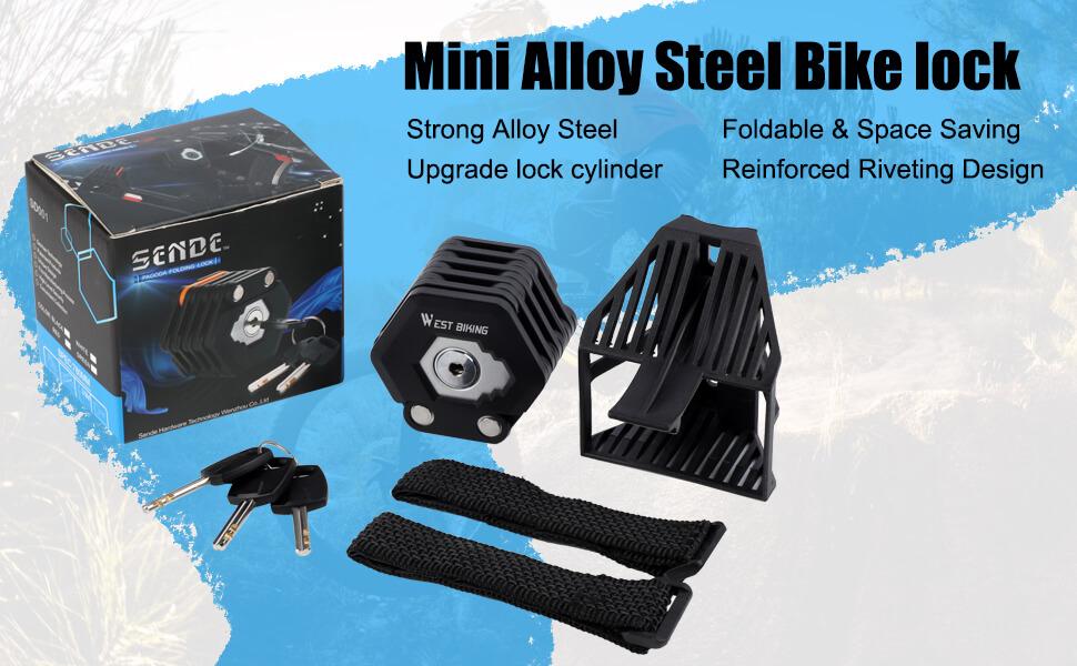 mini alloy steel bike locks