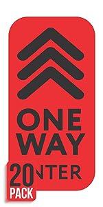 One Way Floor Decals - Social Distancing Floor Stickers - Directional Floor Arrows for Restaurants