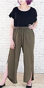 Slit Harem Casual Pants