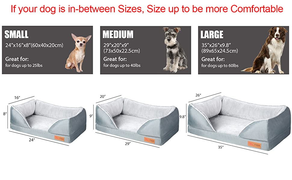 size for dog bed