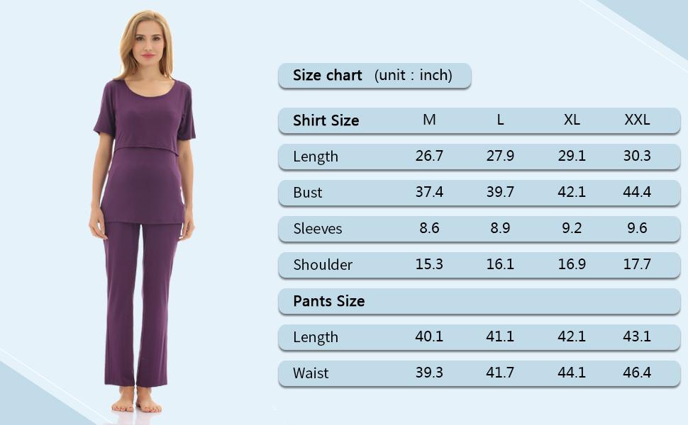 Maternity Pregnancy Sleepwear Set