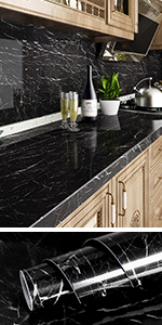 black marble contact paper
