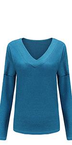 Suéter de punto con cuello en V.