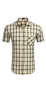 mens plaid check t shirts short sleeve