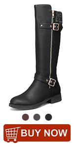 Botas altas hasta la rodilla para mujer, botas de equitación de cuero para otoño e invierno, tacón bajo, punta redonda, botas largas