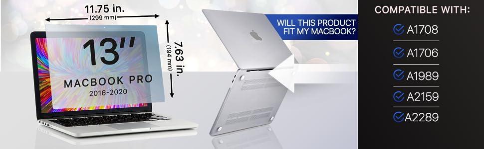 Anti Bluelight Screen Protector Filtro Anti Deslumbrante Protecci/ón para Los Ojos 2016-2019 FiiMoo Anti Bluelight Protector de Pantalla Compatible con MacBook Pro 13 Inch 2 Pack