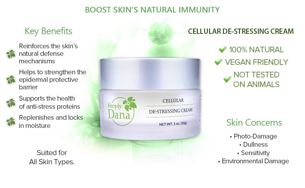 Simply Dana De-stressing Cream Anti-aging Vegan