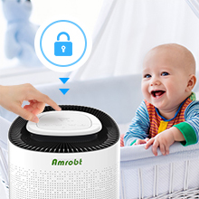 lock  Amrobt Smart Wi-Fi Air Purifier for Home Large Room with True HEPA Filter.4-layer Filtration, Odor Eliminator for Allergies and Pets, Ionic & Sterilizer, Air Cleaner for Office & Home, Rid of Mold, Smoke, Odor. Works with Alexa 2e1ac108 2bed 4f87 82c1 3b556b2aae17
