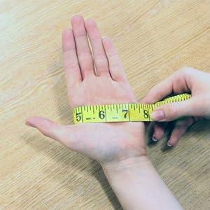 Guida alle misure, misura a mano, misura del guanto, come misurare la mano,