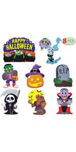 8 PCs Halloween Outdoor Decorations