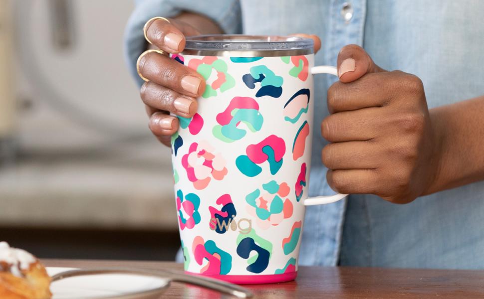 swig life insulated travel mug with handle and lid