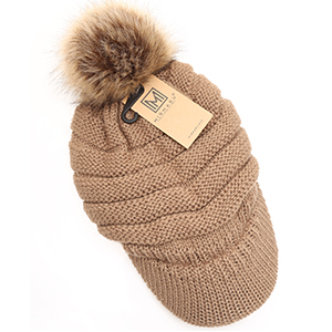 can be worn by adults or young adults Lightweight winter cap with built in brim and removabledetachable pom Great gift 20 circumference