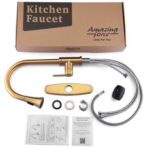 gold kitchen faucet installation