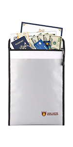 Fire & Water Resistant Cash & Envelope Holder