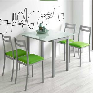 MOMMA HOME Mesa de Cocina Extensible - Modelo Londres Alta - Color ...