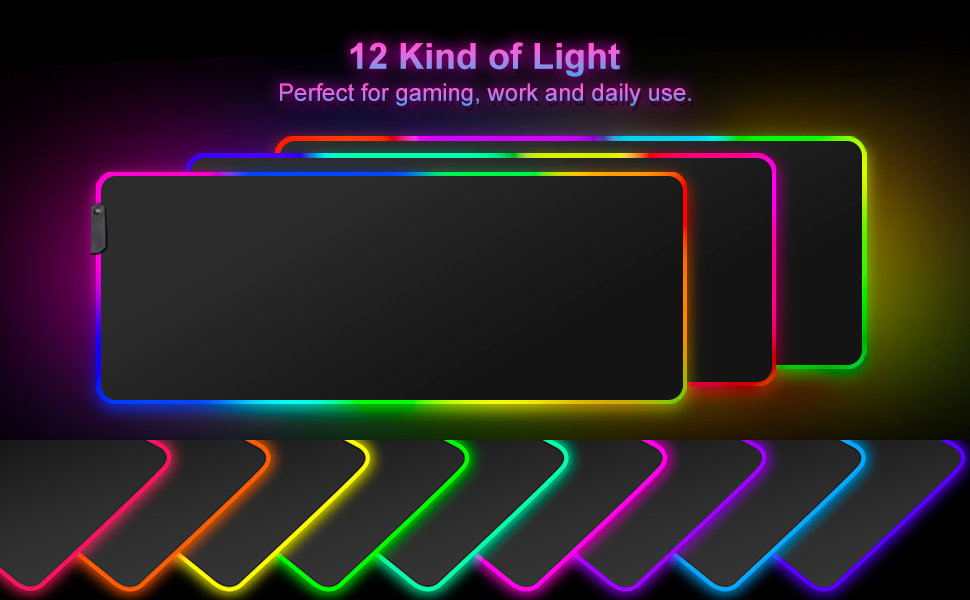 Blade Hawks RGB Gaming Mouse Pad, LED Soft Extended Large Mouse Pad Computer Keyboard Mouse Mat