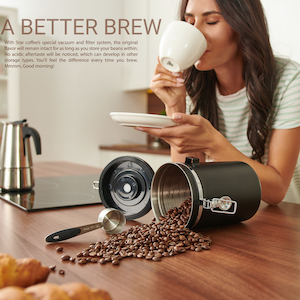 coffee bean storage container airtight canister with scoop
