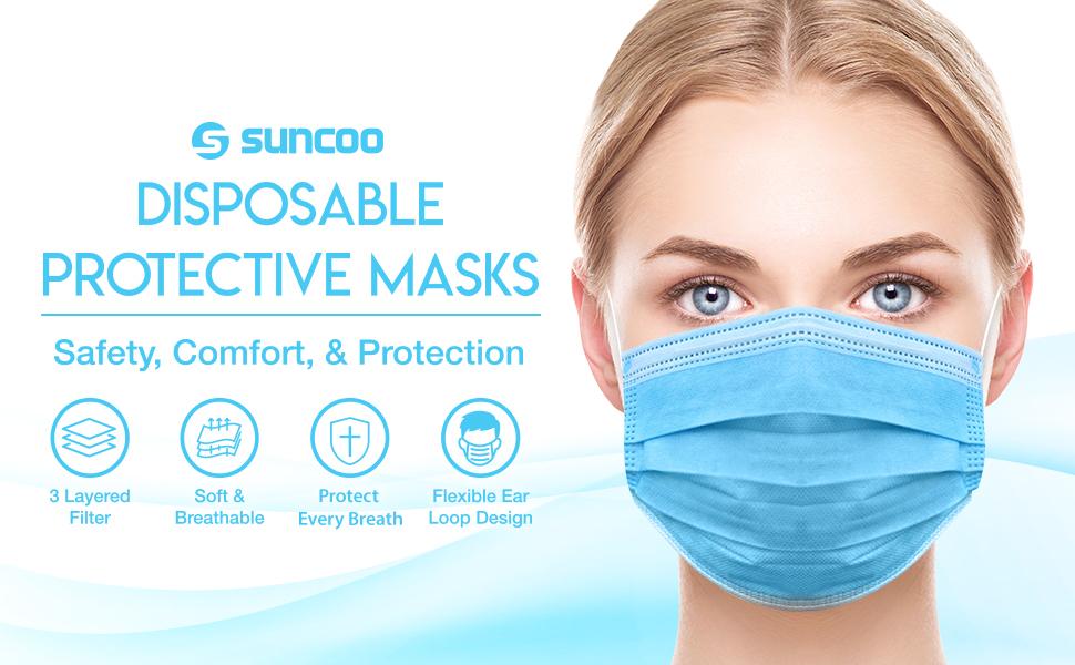 SUNCOO Disposal Protective Mask