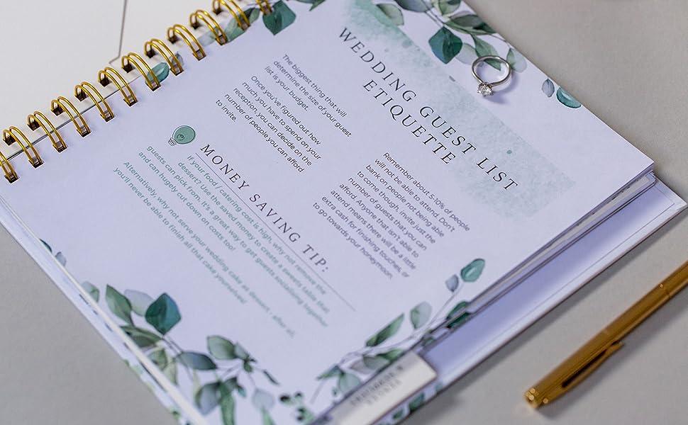 Wedding planner organiser diary countdown