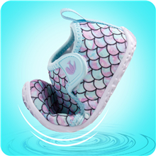 JIASUQI Baby Girls Boys Lightweight Pool Park Athletic Aqua Water Shoes Socks Dot White 6-12 Months