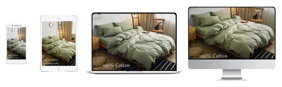 m&meagle duvet cover green cotton