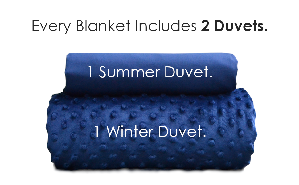 Includes 2 duvets