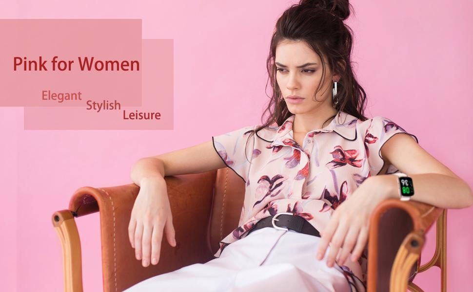 smart watch pink for women