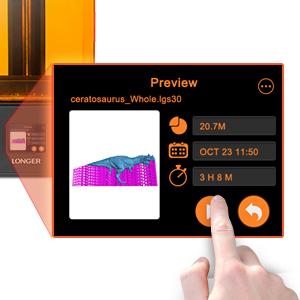 Impresora 3D LONGER Orange 30, Impresora 3D de Resina con Pantalla Táctil, Pantalla LCD de Resolución 2k, Matrix UV LED, Tamaño de Impression 12cm (L) ...