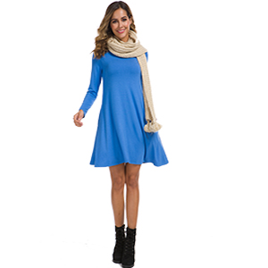 this dress fits well for wearing leggings and boots