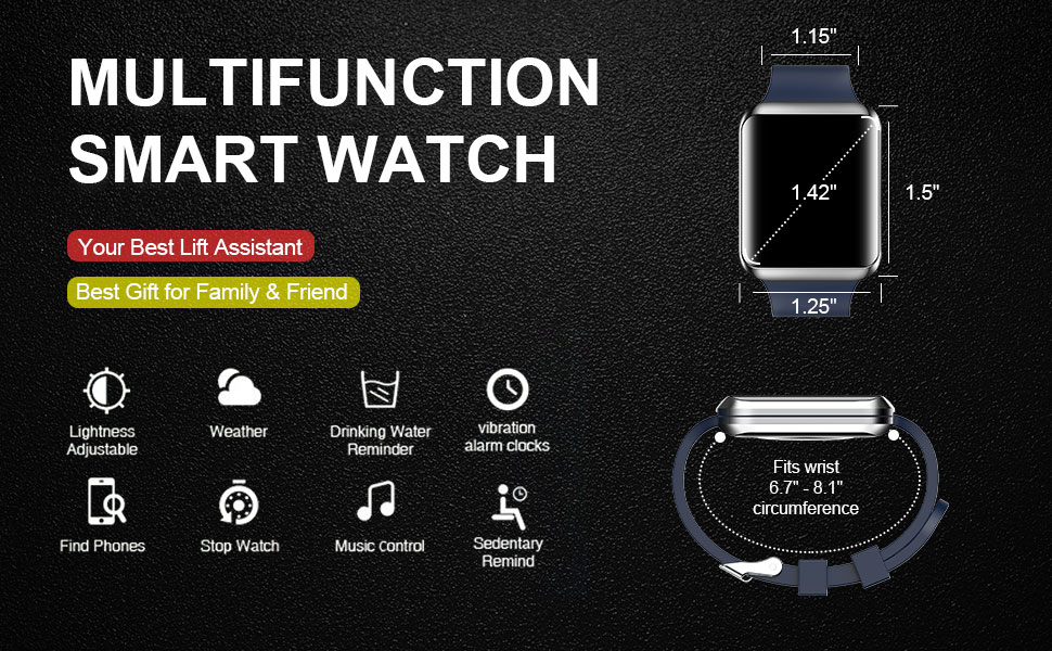 MULTIFUNCTION SMART WATCH FOR ANDROID IOS PHONE