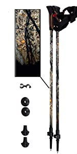 Lightweight 6 Color Options York Nordic 2 Piece Adjustable Trekking//Walking Poles Tips /& Bag 2 Poles Choice of Grips