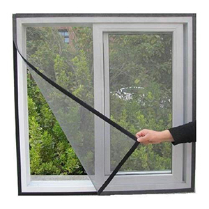 Heavy Quality 120 GSM PVC Coated Fiberglass Window Insect Mosquito Mesh Net Screen with Hook