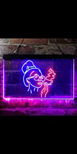 ADVPRO sexy woman smoking power rebel neon sign home bedroom decoration space free spirit light